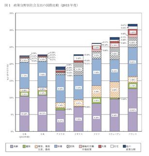 政策分野別社会支出の国際比較 2013年度.png